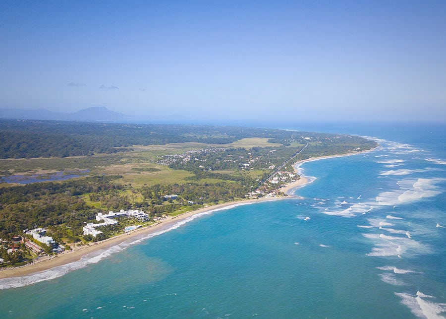 Cabarete from the air
