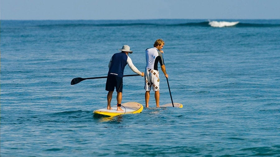 Stand up paddle boarding (SUP) at Cabarete Bay