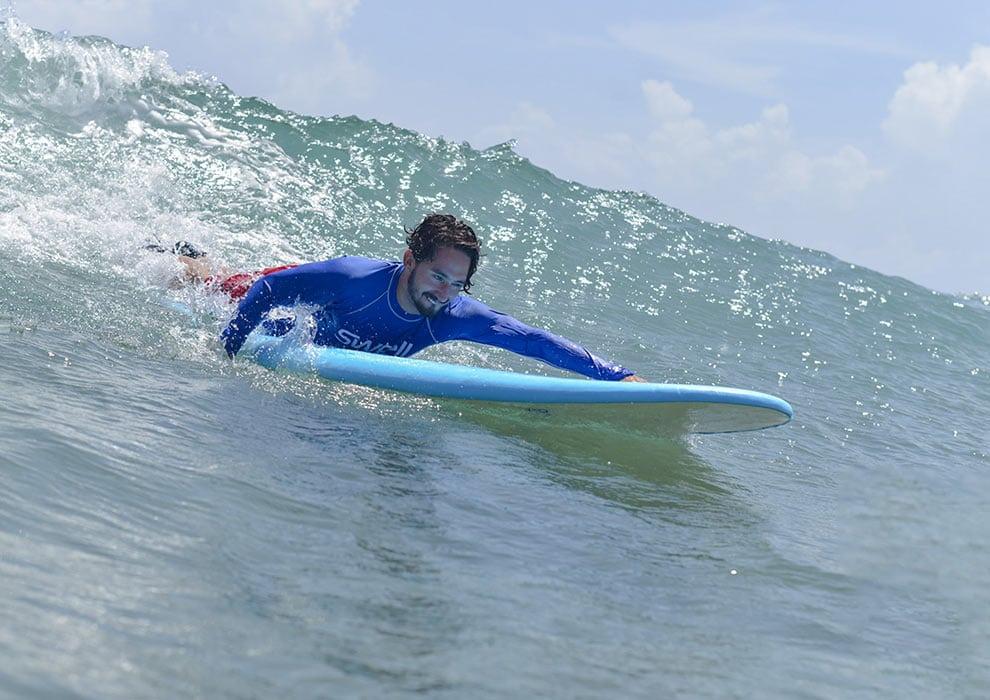 paddling surfboard
