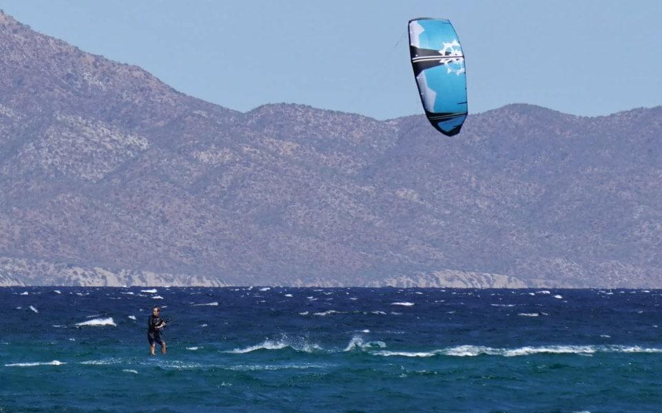 Kiting at La Ventana, Mexico