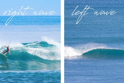 left waves